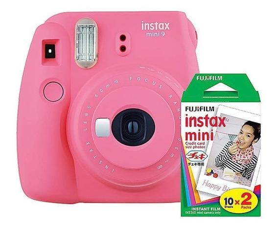 Kit Câmera Instax Mini 9 Filme Com 40 Folhas+varal Brinde