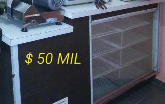Heladera Mostrador.freezer.cortadora D Fiambre.mueble Vidrio
