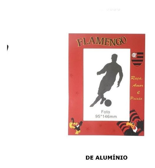 Porta Retrato Flamengo Aluminio 10x15 Cx C/10