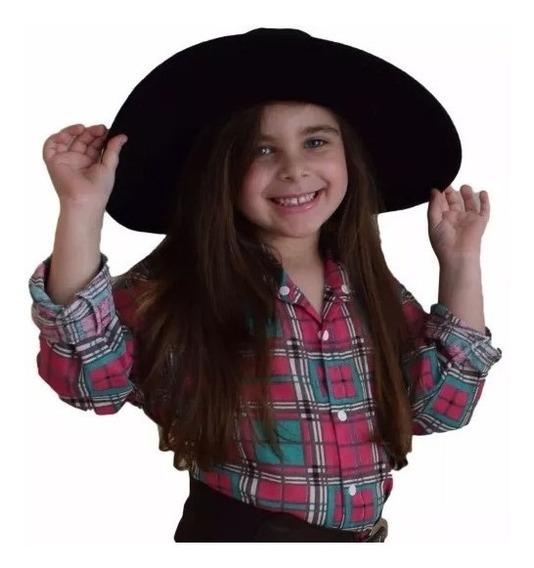 Camisa Feminina Infantil Xadrez Festa Caipira Country