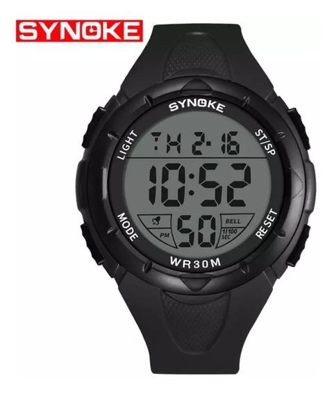 Synoke 9005 - Reloj Deportivo Sumergible Led