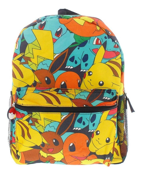 Mochilas Escolares Pokemon Personaje Para Niño Primaria