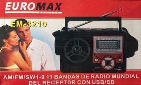 Radio Retro Am Fm Sw 1-9 11 Bandas Usb Sd Novo Lacrado
