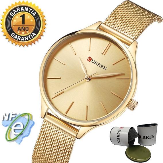 Relógio Feminino Dourado Esporte Original D