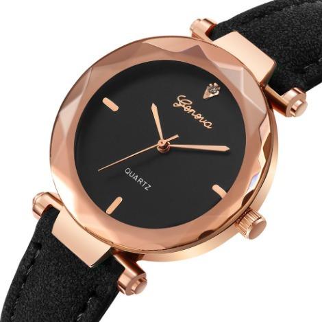 Relógios Geneva De Luxo Moda Feminina Analógico Lindo