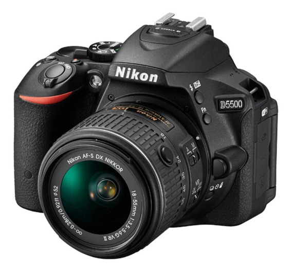 Nikon D5500 18-55mm VR II Kit DSLR cor preto