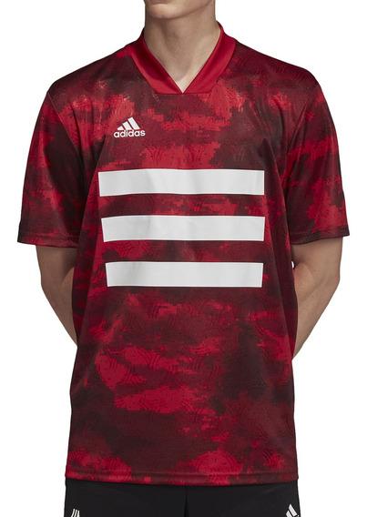 Remera adidas Futbol Tan Aop Hombre Bd/rj