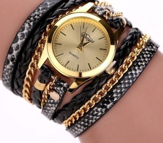 Relógio Feminino Vintage Pulseira Em Couro Quartz