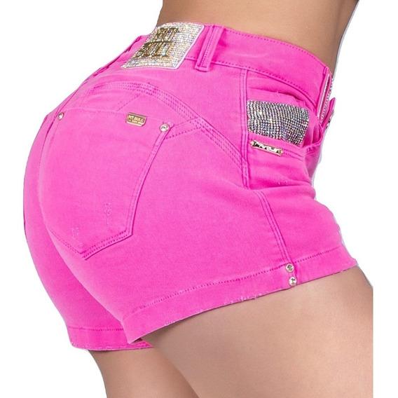Shorts Pit Bull Pitbull Jeans Original Bojo Removível Bumbum