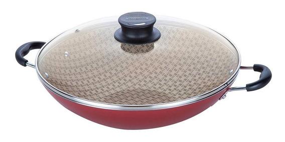 Wok Tramontina Paella Paris 36cm Antiaderente 6,6l Teflon