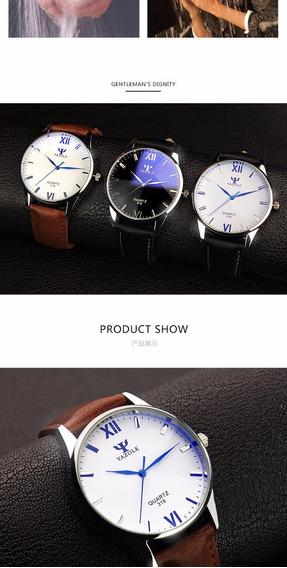 Relógio Unisex Quartzo Yazole Casual