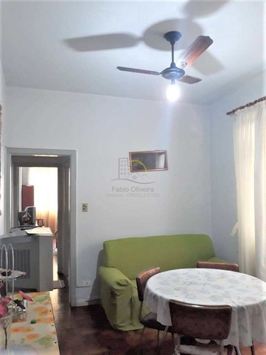 Apartamento Com 1 Dorm, Centro, São Vicente - R$ 170 Mil, Cod: 2120 - V2120