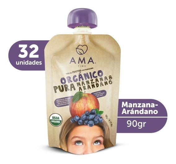 Ama Puré Manzana Arándano Orgánico 32x90gr