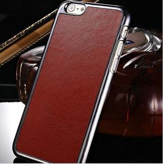 Kit 3 Capa Celular iPhone 6 Couro Preta Marrom Rosa + Brinde