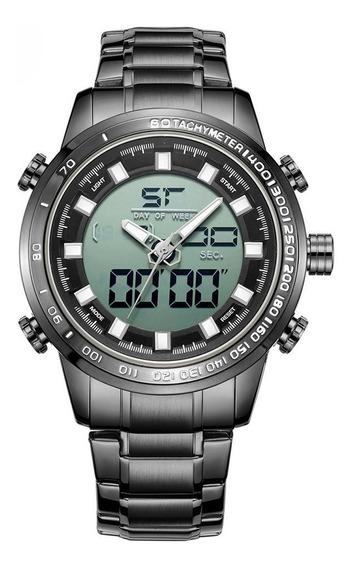 Preto M8011mens Esportes Relógio Eletrônico Cinto De Aço À P