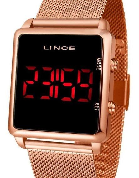 Relógio Lince Unissex Digital Quadrado Rose - Mdr4596l Pxrx