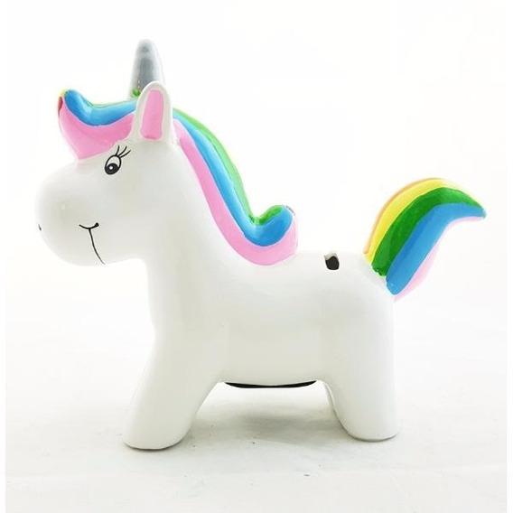 Alcancia Ceramica Unicornio Souvenir Fiestas Pony Colores
