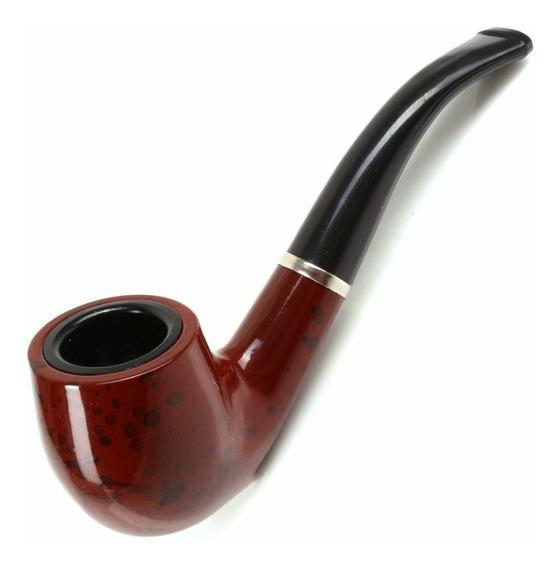 Pipa Simil Madera 14 Cm Curva Tabaco Profesional Deluxe