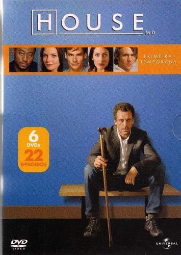 House 1ª Temporada Box 6 Dvd 22 Episodios Novo Lacrado Orig
