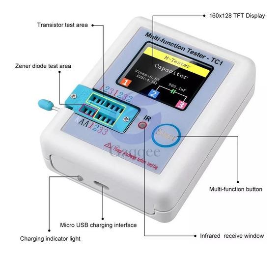 Lcr-tc1 Testador Componentes Eletrônicos Bateria Interna S\j