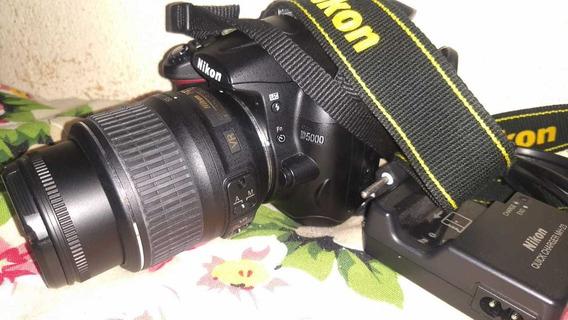 Nikon D5000 + Lente 18-55mm Ápenas 6k Em Perfeito Estado.