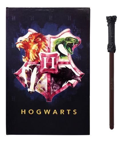 Imagen 1 de 1 de Libreta Harry Potter + Lapiz Varita Magica