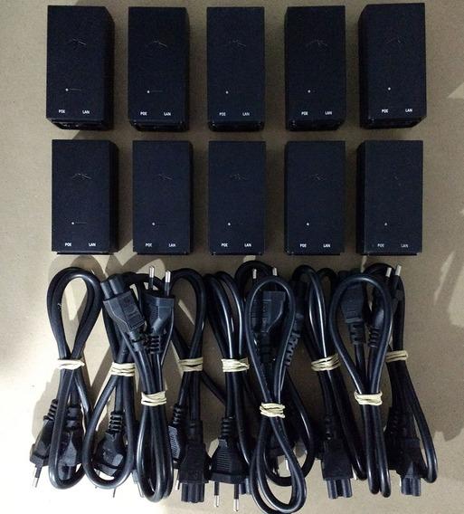 Kit 10 Fonte Poe 24v 0,5a Ubiquit Usada Original Reset, Cabo