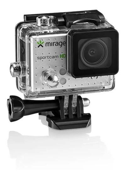 Câmera De Ação Hd Mirage-mr3000/ Tela Lcd/ 720p/ Cartão 16gb