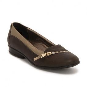 Zapatos Flats Juve 7789 Damas Verde Ancho Doble
