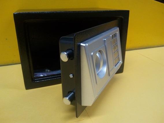 Cofre Digital E Chave Em Aço 30x20x20