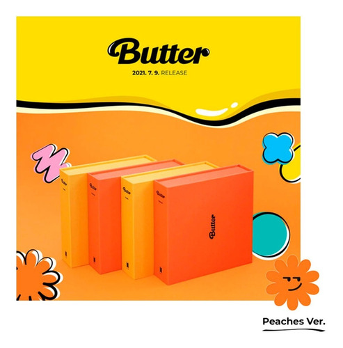 Imagen 1 de 10 de Cd Bts - Butter Peaches Version - Importado + Póster Regalo