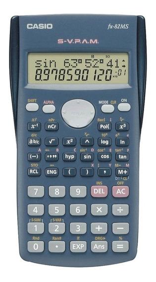 Calculadora Científica 10+2 Dígitos Cinza Fx-82ms Casio