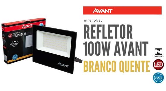 Refletor Led 100w Avant Branco Quente Ip65