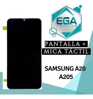 Pantalla + Mica Tactil Samsung A20 A205 Original Tienda