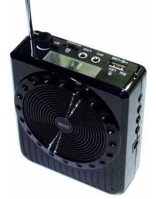 Caixa De Som Multimídia Para Professor Com Microfone 9v
