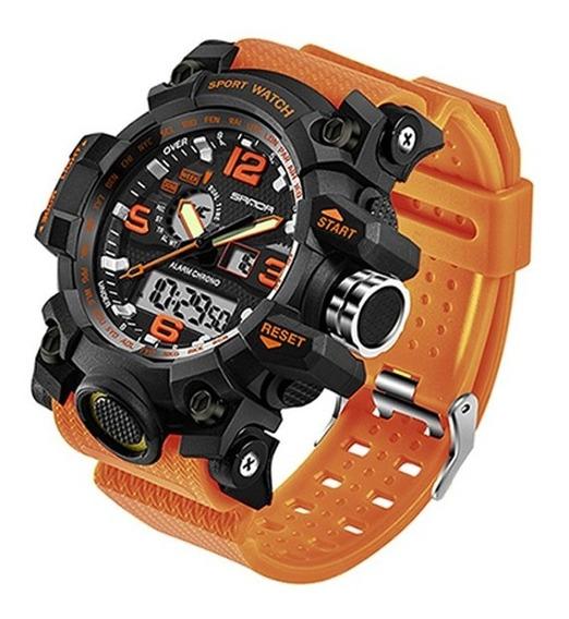 Reloj Hombre Deportivo Análogo Y Digital Fechador Rock Naran