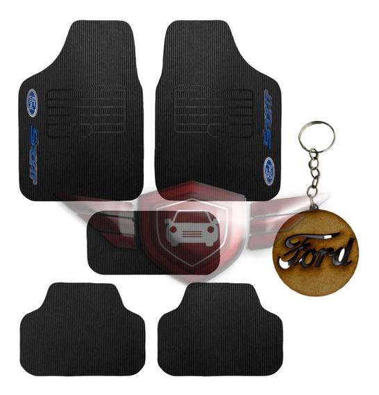 Jogo Tapetes Automotivos Logo Ford 5 Peças