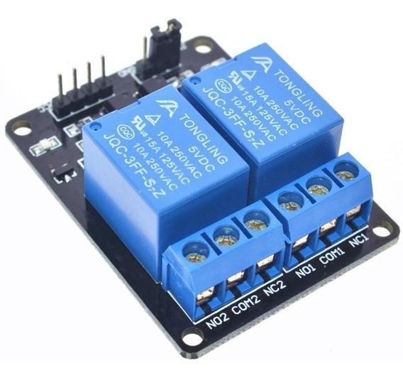 Módulo Relé 2 Canais 5v P/ Arduino, Pic, Arm, Raspberry