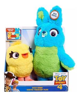 Disney Store Toy Story 4 Peluche Ducky Y Bunny Perfumados Nu