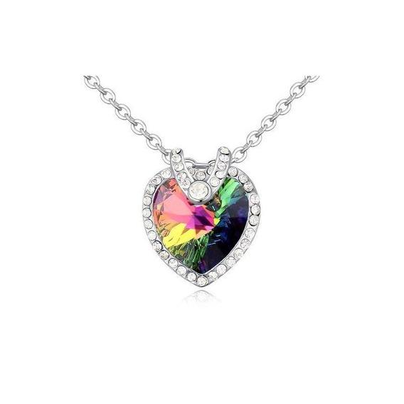 Collar Crystallized Para Dama Piedra Rainvow Certificado