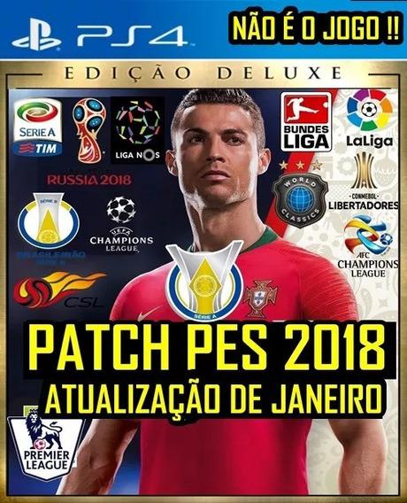 Patch Pes 2018 Ps4 Atualização Janeiro Brasileirão 2019 19