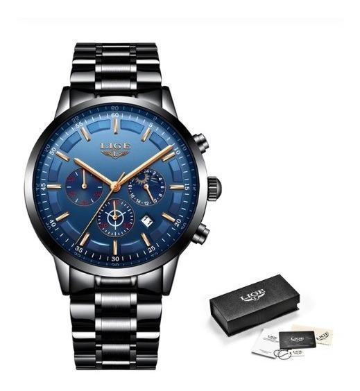 Relógio Masculino 9877 Original Aço Luxo