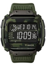 Relógio Timex Command Shock Verde Camuflado - Original