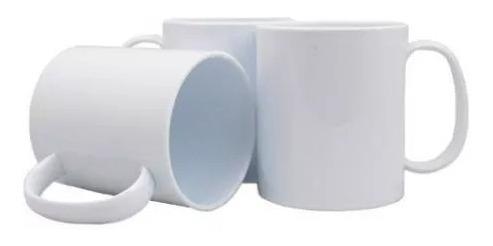 12 Canecas Sublimação Porcelana Branca Resinada 11oz Aaa 325