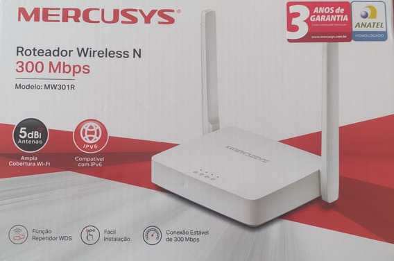Roteador Wirelles N Mercusys 300 Mbps
