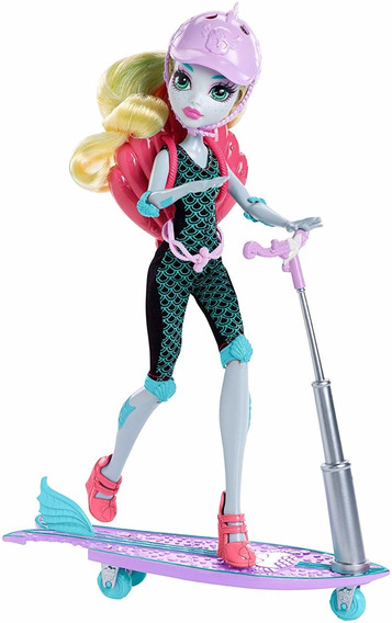 Monster High High Surf-to-turf Scooter Vehicle With Lagoona