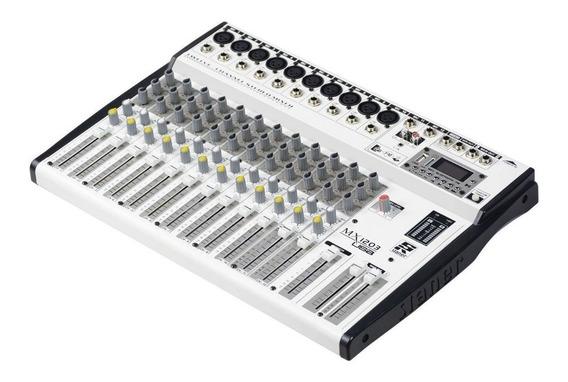Mesa De Som Staner 12 Canais Mx-1203 Usb Bluetooth