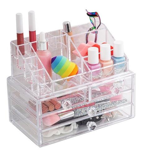 Imagen 1 de 9 de Organizador Acrilico Cajones Grande Cosmeticos Maquillaje