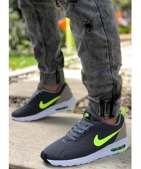 Zapatillas Verde Esmeralda Hombre Nike Tenis Nike Gris en