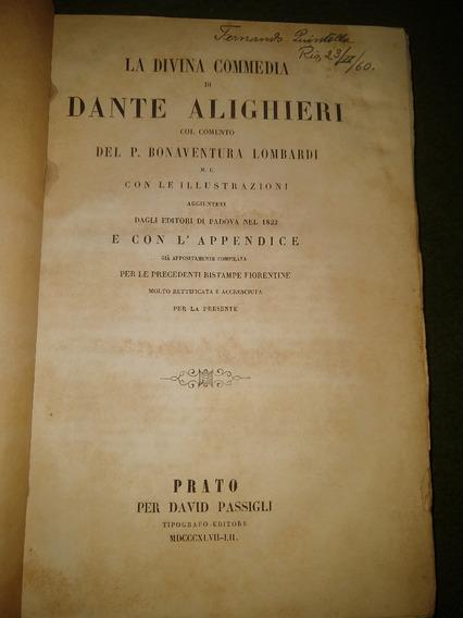 La Divina Commedia Di Dante Alighieri Ano 1897